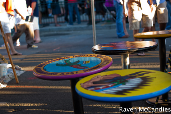 Painted tables at H Street Festival